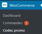 Menu WooCommerce